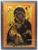 Владимирская Божия Матерь, подарочная икона на металле