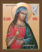 Ирина, рукописная икона (с голубем), артикул 6188
