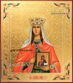 Святая Ирина, писаная икона с чеканкой, артикул 6189