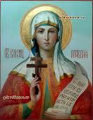 Клавдия Анкирская писаная икона артикул 6191
