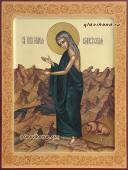 Мария Египетская в пустыне икона писаная артикул 6196