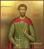 Александр Пиднский, рукописная икона на золоте