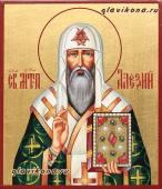Митрополит Алексий, икона рукописная артикул 6121