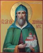 Даниил Московский рукописная икон артикул 6025