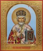 Николай Чудотворец икона писаная артикул 6154
