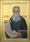 Савва Освященный, писаная икона артикул 6165