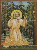 Моление на камне Серафима Саровского икона артикул 6170