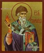 Спиридон Тримифунтский рукописная икона артикул 6183