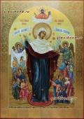 Всех скорбящих Радость, рукописная икона артикул 5294