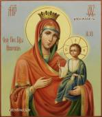 Иверская, рукописная икона артикул 5322