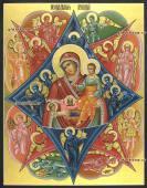 Неопалимая Купина, икона с золочением артикул 5330