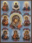 Собор Богородицы, писаная икона артикул 5336