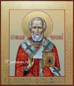 рукописная икона Николая Чудотворца артикул 578