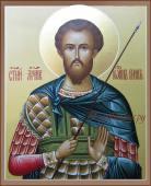 Икона рукописная Иоанна Воина артикул 593