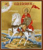 Святой Александр Невский, полководец, икона артикул 503