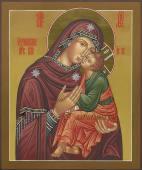 Богородица Умиление, рукописная икона, артикул 261