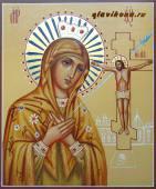 Самарская Божия Матерь, писаная икона артикул 242