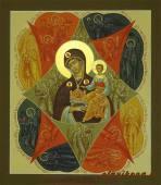 Неопалимая Купина икона писаная артикул 227
