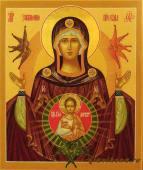 Богородица Знамение рукописная икона артикул 220