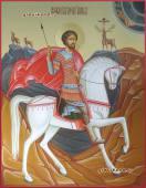 Святой Евстафий Плакида писаная икоан артикул 6223