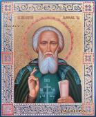 Сергий Радонежский, рукописная икона с огрудным изображением, артикул 6232