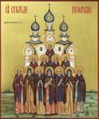 Писаная икона святых строителей Печерских
