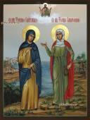 Писаная икона с двумя Фотиниями артикул 441