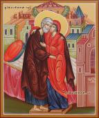 Праведные Иоаким и Анна писаная икона артикул 435