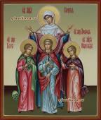 Софья, Вера, Надежда, Любовь, рукописная икона артикул 403
