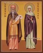 Писаная икона пророка Захарии и праведной Елисаветы
