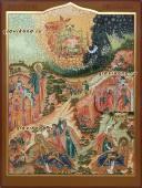 Житие Иова Многострадального писаная икона