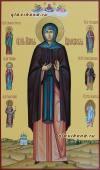 Преподобная Мария Радонежская мерная икона с предстоящими