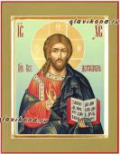 Писаная икона Вседержителя, светлые тона, артикул 610