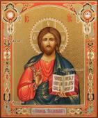 Писаная икона Вседердителя с чеканкой артикул 617