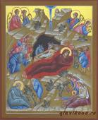 Писаная икона Рождества Христова артикул 410