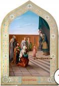 Введение во храм Пресвятой Богородицы, рукописная икона артикул 415