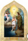 Рукописная икоан Крещение Господня артикул 419