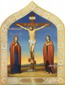 Распятие Христово живописная икона артикул 422