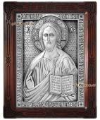 Серебряная икоан Господа Вседержителя артикул 11185