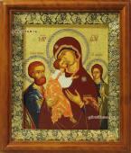 Икона Трех Радостей печать на холсте в киоте артикул 60602