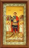 Икона на холсте в киоте святого мученика Уара артикул 60618