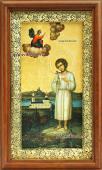 Икона в киоте праведного Артемия Веркольского артикул 60619