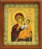 """Божия Матерь """"Отрада и Утешение"""" икона холст в киоте артикул 60628"""