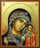 Святой Образ Казанской Божией Матери икона писанная на доске артикул 204