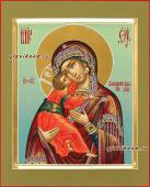 Светлый образ Владимирской Божией Матери, писаная киона артикул 206