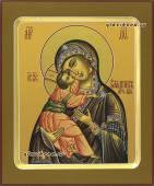 Образ Владимирской Богордицы написанный на деревянной доске с ковчегом артикул 228