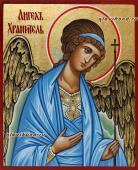 Рукописная икона Ангела Хранителя поясного артикул 714