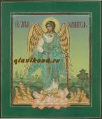 Икона Ангела Хранителя ростового написанная в палехском стиле артикул 703