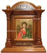 Икона Ангела Хранителя в деревянном киоте - артикул 708
