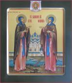 Благоверные Петр и Феврония икона с ковчегом артикул 802